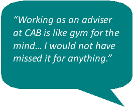 what our volunteers say about volunteering with wiltshire citizens advice
